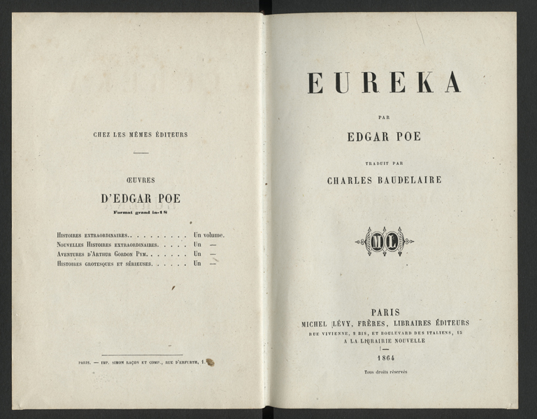 an examination of eureka by edgar allan poe Edgar allan poe wrote annabel lee in may 1849 these papers were written primarily by students and provide critical analysis of poe's poetry by edgar allan poe.