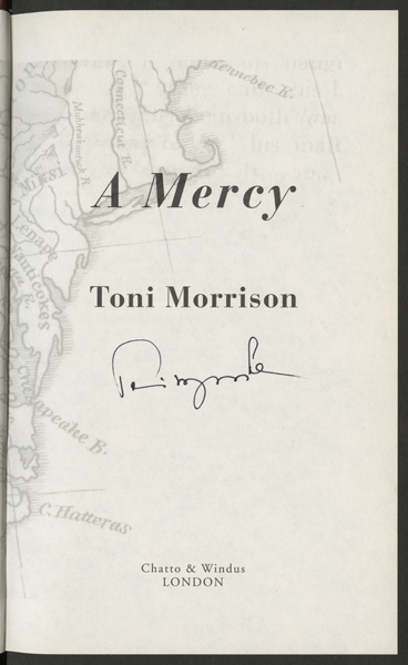 a mercy toni morrison essays Essays, speeches and biographies of james baldwin and toni morrison, two   a mercy 1 vintage international ed new york: vintage international, 2009.
