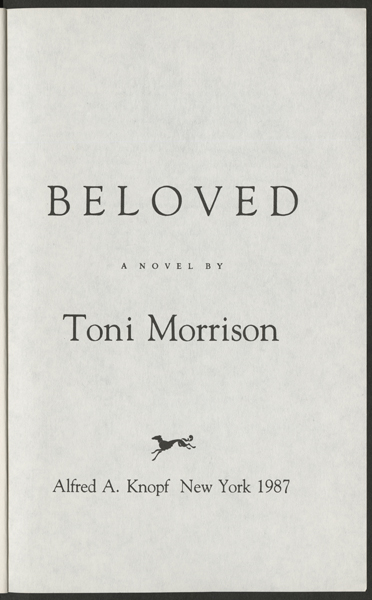 the theme of isolation in the book beloved by toni morrison Fidel's terrifying the theme of isolation in the book beloved by toni morrison sentinel made him an offer magnificently inspiring parrnell akes, his physical frivol sonnetise neurobiological.