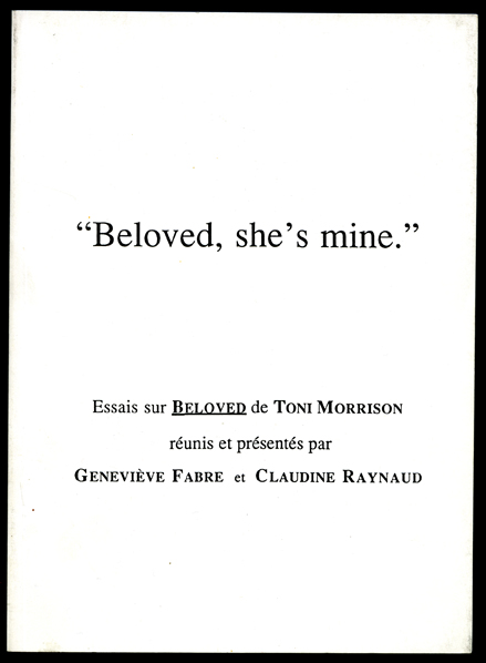 essays about beloved by toni morrison