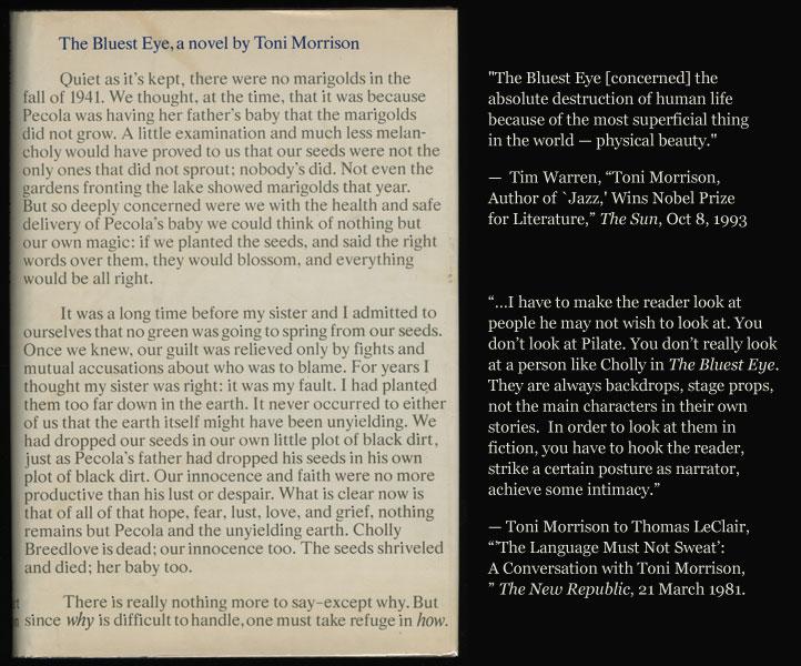 toni morrison an american literary treasure bluest eye