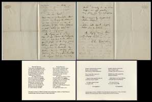 Letter to Philibert Rouvière</h3> <p>Letter to Philibert Rouvière (actor and painter), written on Poulet-Malassis letterhead paper, dated and signed by Charles Baudelaire